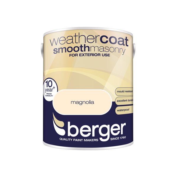 Berger Weathercoat 5Lt - Magnolia