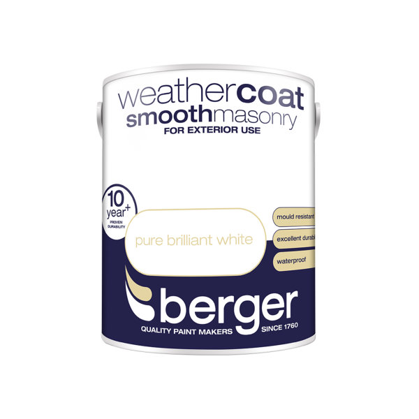 Berger Weathercoat 5Lt - Pure Brilliant White