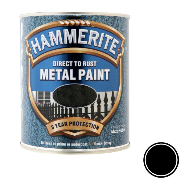 Hammerite 750ml - Hammered - Black