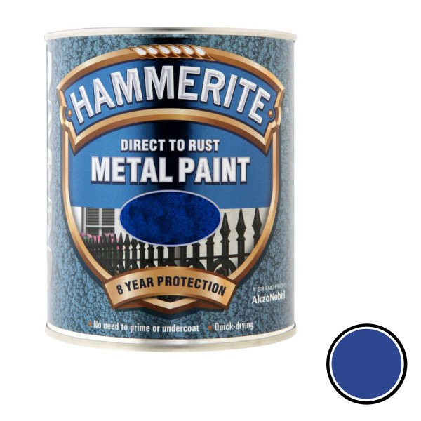 Hammerite 250ml - Hammered - Blue
