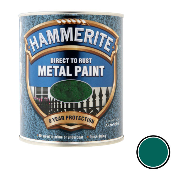 Hammerite 250ml - Hammered - Dark Green