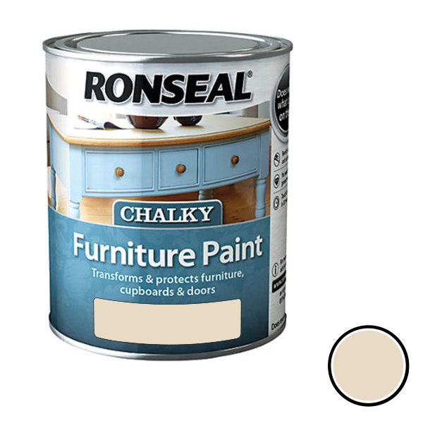 Ronseal Chalky Furniture Paint 750ml - Pebble