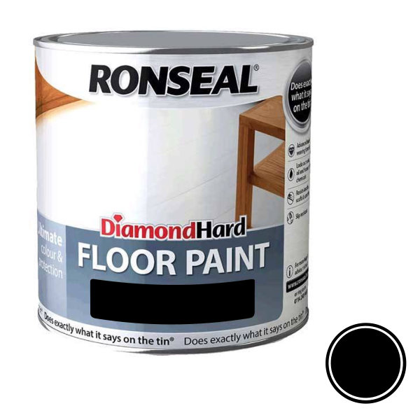 Ronseal Diamond Hard - Floor Paint 2.5Lt - Black