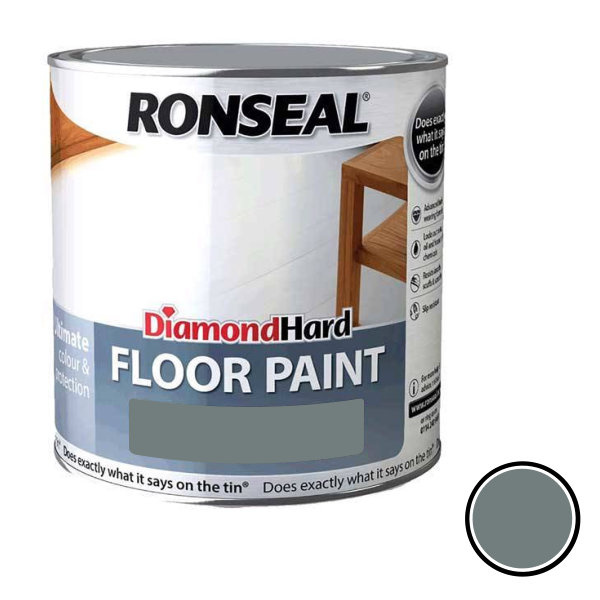 Ronseal Diamond Hard - Floor Paint 2.5Lt - Slate