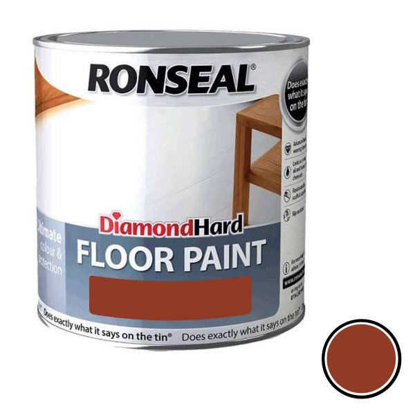 Ronseal Diamond Hard - Floor Paint 2.5Lt - Terracotta
