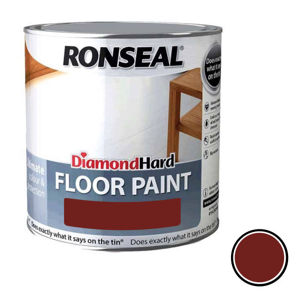 Ronseal Diamond Hard - Floor Paint 2.5Lt - Tile Red