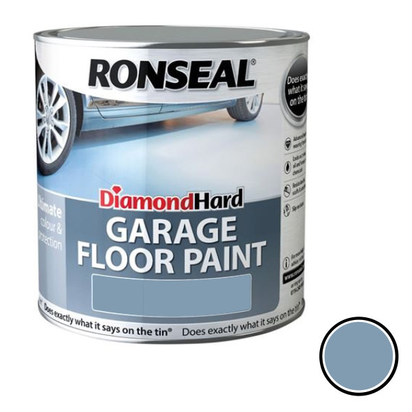 Ronseal Diamond Hard - Garage Floor Paint 2.5Lt - Steel Blue