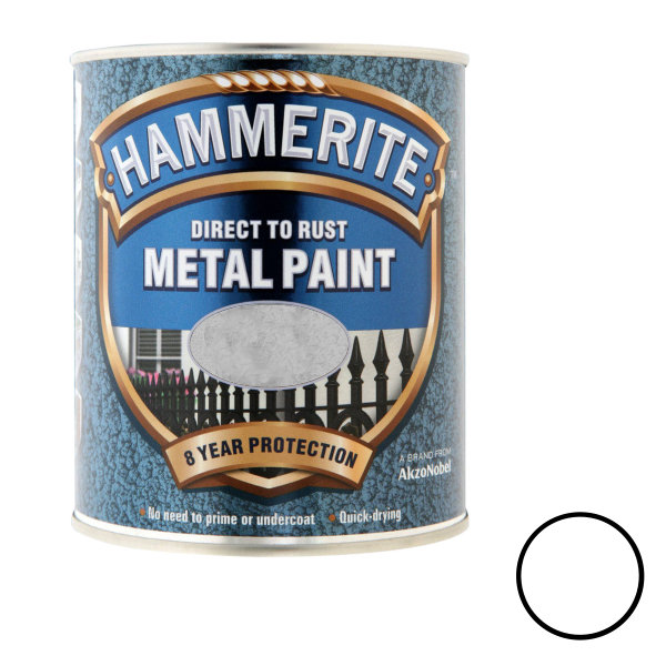 Hammerite 250ml - Hammered - White