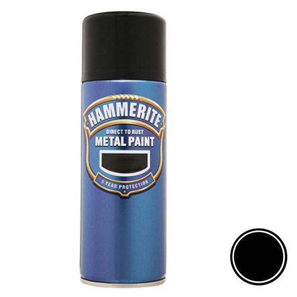 Hammerite Spray 400ml - Smooth - Black