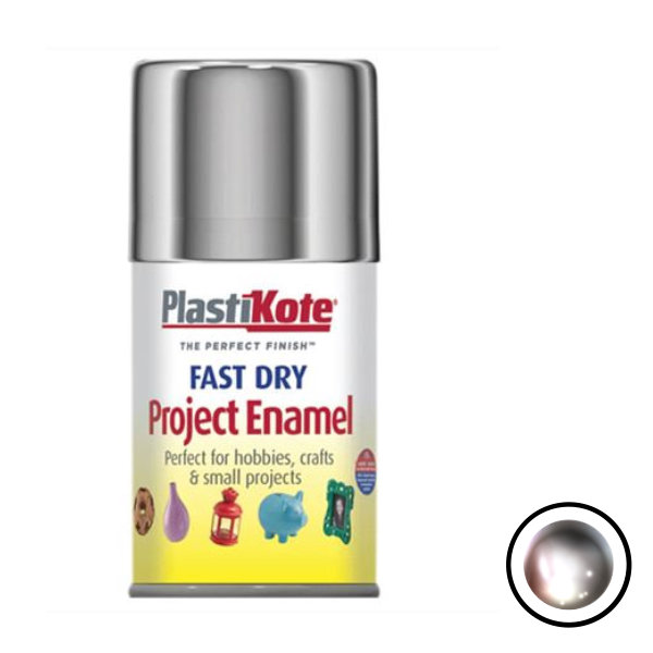 Plasti-Kote Spray Paint 100ml - Enamel - Chrome Effect