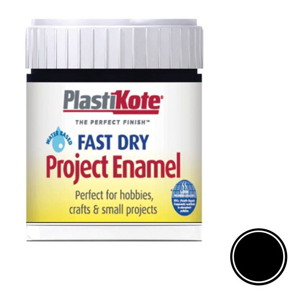 Plasti-Kote Enamel 59ml - Gloss Black (B1)
