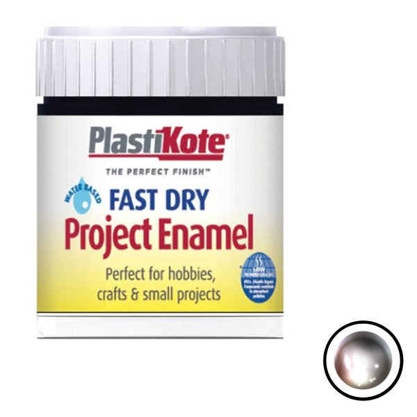 Plasti-Kote Enamel 59ml - Chrome (B35)