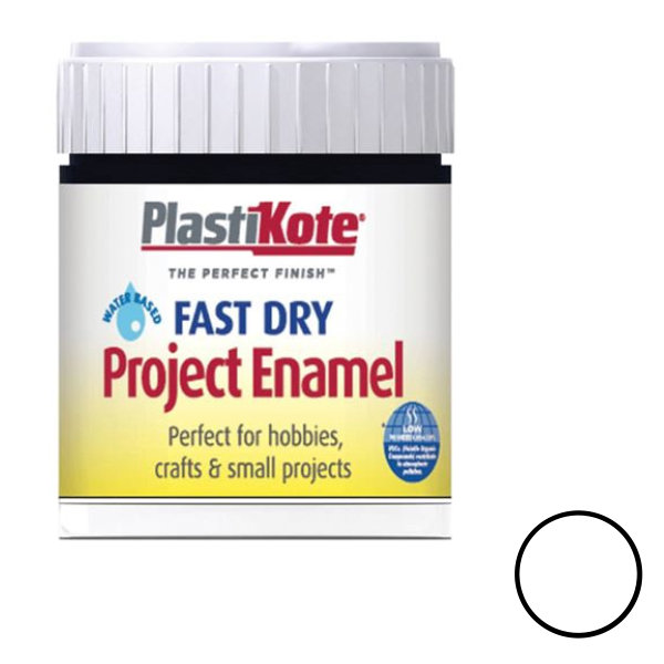 Plasti-Kote Enamel 59ml - Gloss White (B4)