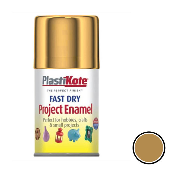 Plasti-Kote Spray Paint 100ml - Enamel - Gold Leaf