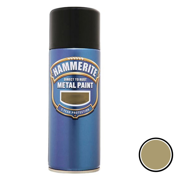 Hammerite Spray 400ml - Smooth - Gold