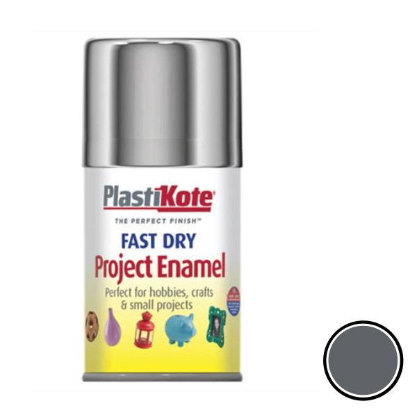 Plasti-Kote Spray Paint 100ml - Enamel - Silver Aluminium