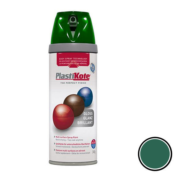 Plasti-Kote Spray Paint 400ml - Gloss - Lawn Green