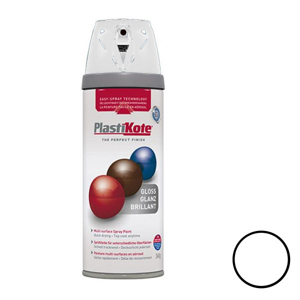Plasti-Kote Spray Paint 400ml - Gloss - Antique White