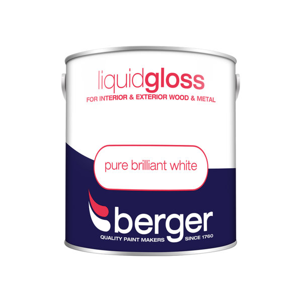 Berger Liquid Gloss 2.5Lt - Pure Brilliant White