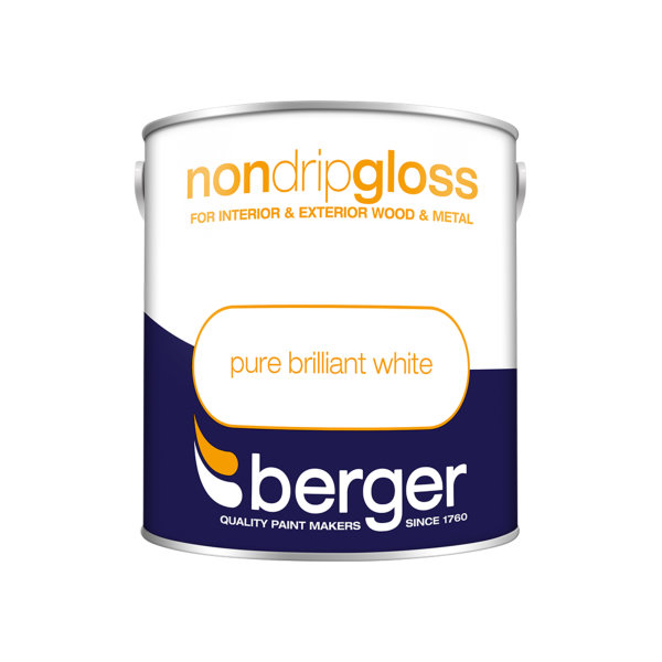 Berger Non-Drip Gloss 2.5Lt - Pure Brilliant White