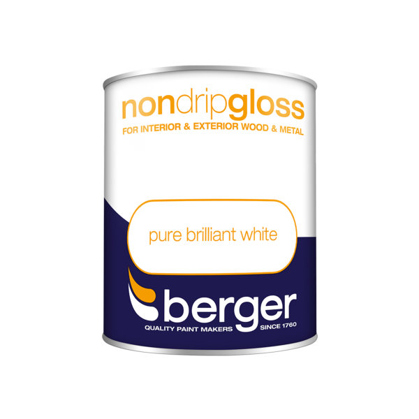 Berger Non-Drip Gloss 750ml - Pure Brilliant White