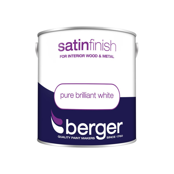 Berger Satin Sheen 2.5Lt - Pure Brilliant White
