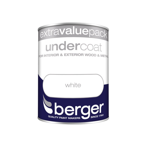 Berger Undercoat 1.25Lt - Pure Brilliant White