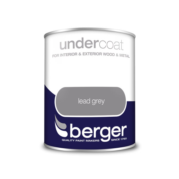 Berger Undercoat 750ml - Lead Grey