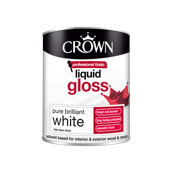Crown Liquid Gloss 750ml - Pure Brilliant White