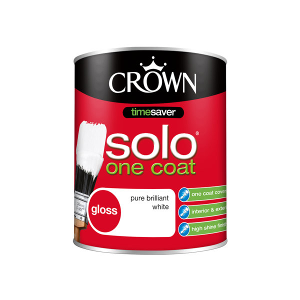 Crown Solo Gloss 750ml - Pure Brilliant White