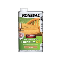 Ronseal Hardwood Garden Furniture Oil 1Lt - Natural Oak