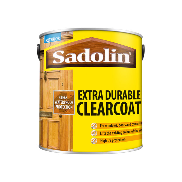 Sadolin Extra Durable - Clearcoat - Gloss 2.5Lt