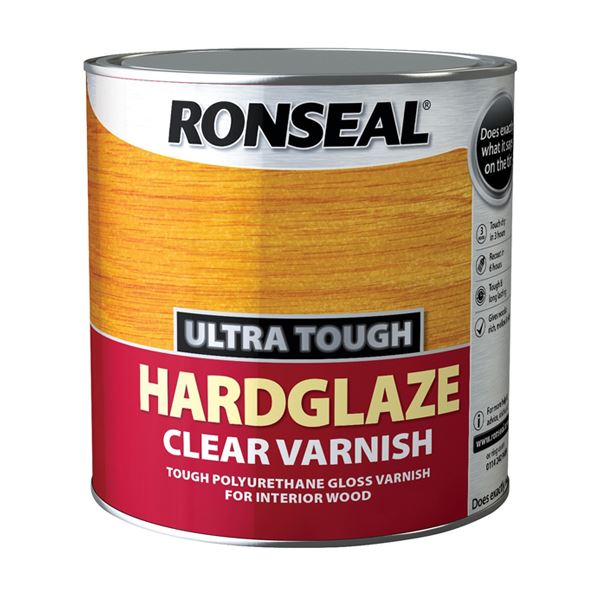 Ronseal Ultra Tough Clear Varnish 750ml - Hardglaze