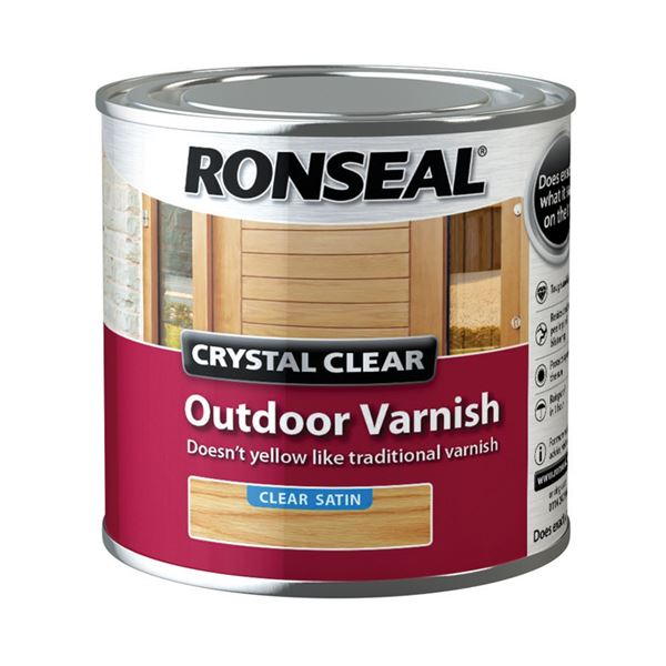 Ronseal Outdoor Varnish - Satin - Crystal Clear 750ml