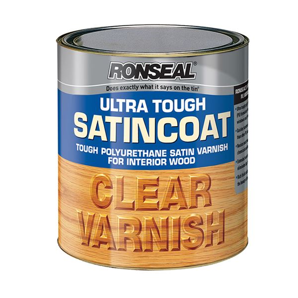 Ronseal Ultra Tough Clear Varnish 750ml - Satincoat