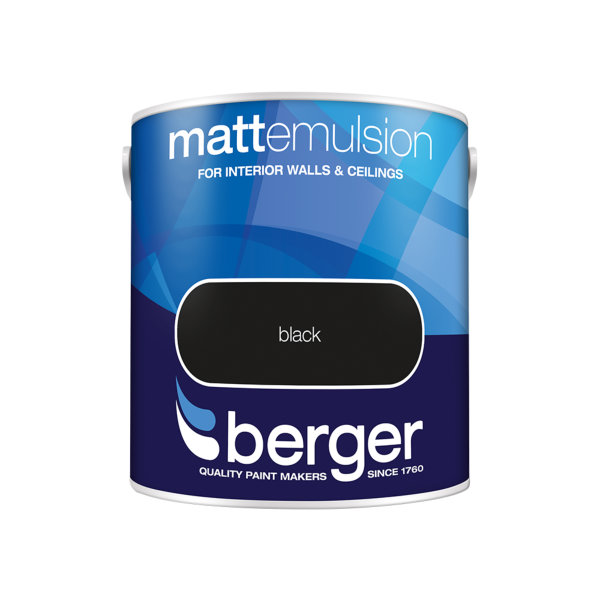 Berger Matt Emulsion 2.5Lt - Black