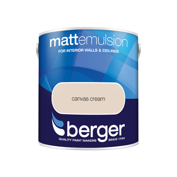 Berger Matt Emulsion 2.5Lt - Canvas Cream