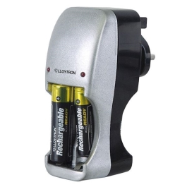 Lloytron Compact Battery Charger - (AA/AAA)