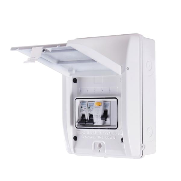 Garage Consumer Unit RCD 40A - IP65 (Metal)
