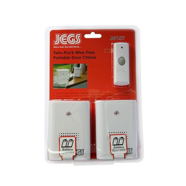 Jegs Portable Door Chime - Twin Pack
