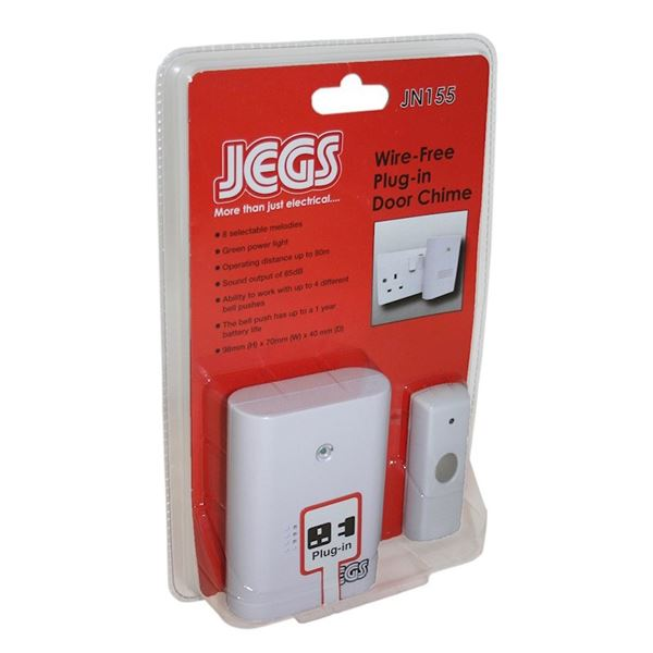 Jegs Wirefree Door Chime - Plug In