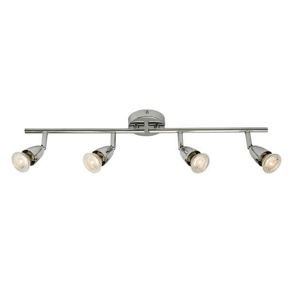 Amalfi GU10 Spot Bar - 4 Light - Satin Nickel