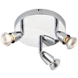 Saxby Amalfi GU10 Spot Light - 3 Plate - Chrome