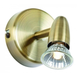 Saxby Amalfi GU10 Spot Light - Antique Brass