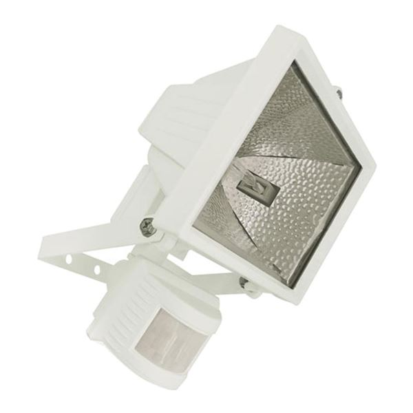 400W PIR Halogen Flood Light White