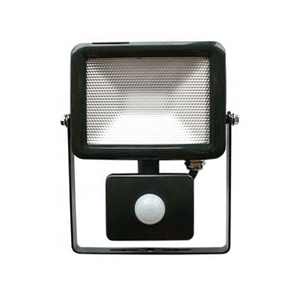 Lyveco LED Slim Floodlight & PIR - 10 Watt - Black