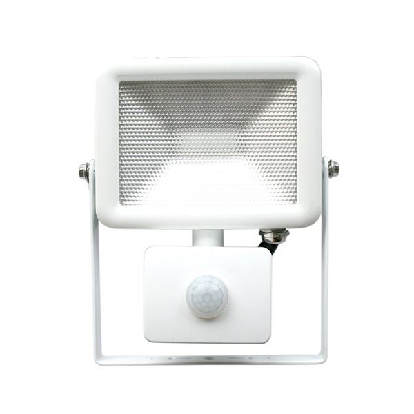 Lyveco LED Slim Floodlight & PIR - 10 Watt - White