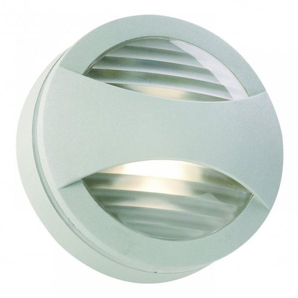 Outdoor Wall Light Fitting - Flush - Silver