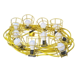 Faithfull Festoon Lights 22Mt - 10 Bulbs - 110 Volt