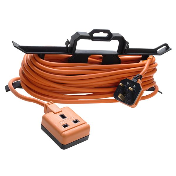 Extension Lead 15Mt - 13Amp - H Frame - Orange